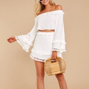Other - Cute White Two Piece Set